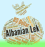 Albanian Lek Shows Foreign Exchange And Banknote Royalty Free Stock Photo