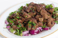 Albanian liver three quarters view Royalty Free Stock Image