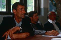 Albanian men in Kosovo. Stock Photos