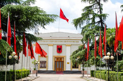 Albanian parliament. Historical building of albanian parliament royalty free stock photos