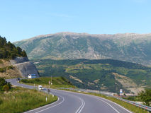Albanian road. Road in Albanie trough mountains near to the Albanian riviera Royalty Free Stock Photos