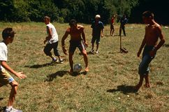 Albanian and Serbian children playing, Kosovo. Stock Photography