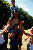 Albanian and Serbian children playing, Kosovo. Royalty Free Stock Photo