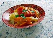 Albanian Vegetables. Turli Perimesh . Balkan dish stock image
