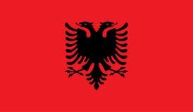 Albanien flaggabild Fotografering för Bildbyråer