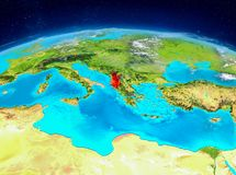 Albanien på jord Arkivfoton