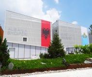 Albanien und San Marino Pavilions, Ausstellung 2015 Lizenzfreie Stockfotografie