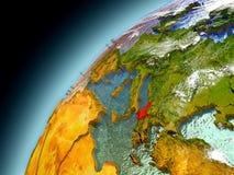Albanien von der Bahn von vorbildlichem Earth Stockfotografie