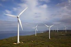 Albanien-Wind-Bauernhof Stockfotos