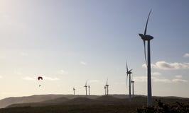 Albanien-Wind-Bauernhof Stockbilder