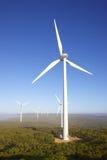 Albanien-Windpark Stockfotos
