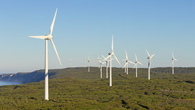 Albanien-Windpark Lizenzfreies Stockfoto