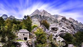 Albanische Berge - Bjeshket e Tropojes stockfotos
