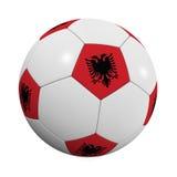 Albanische Fußball-Kugel stock abbildung