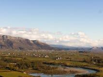 Albanische Landschaft Stockbild