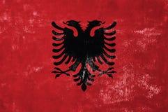 Albanische Markierungsfahne Lizenzfreies Stockbild