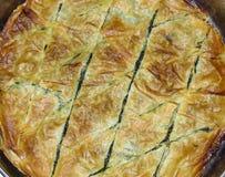 Albanische Spinats-Torte stockfotografie
