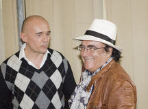 Albano carrisi and alfonso signorini Royalty Free Stock Photography