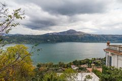 Albano lake, Castelli Romani, Italy Stock Photography