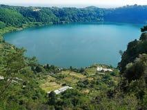 Albano Lake view from Nemi Italy Stock Photo