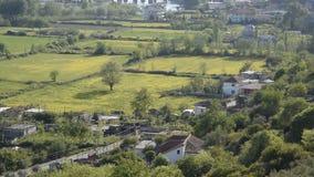 Albansk stadsShkoder cityscape stock video