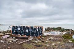 Albany Bulb. Graffiti on a concrete block at Albany Bulb, Albany, California Royalty Free Stock Images