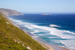 Albany Coast. Coast below Albany Wind Farm, near the town of Albany in Western Australia Royalty Free Stock Images