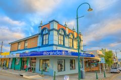 Albany Morande Designs. Albany, Australia - Dec 28, 2017: Morande Designs for Classical Lifestyle Clothing on the York Street corner of Peel Place in Albany royalty free stock photos
