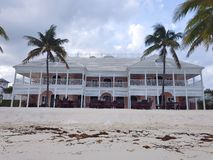 ALBANY, NASSAU. BAHAMAS - JULY 21, 2018. Beautiful colonial style building at the beach with white beautiful balcony royalty free stock images