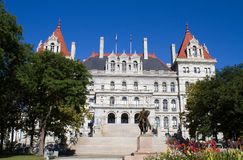 Albany New York State Capitol Building. New York state capitol building, located in Albany, NY is part of the Empire State Plaza and is a National Historic Royalty Free Stock Images