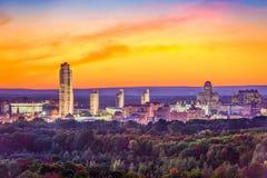 Albany, New York, USA. City skyline at dusk Stock Photography