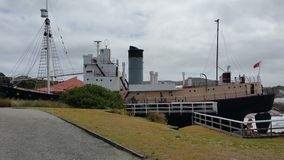 Albany's Historic whalling Station. The very old ship's uses for catching the whale Royalty Free Stock Photos