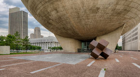 Albany under the Egg. The Egg Center for Performing Arts in Albany, New York Stock Photography