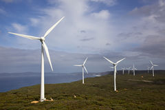 Albany Wind Farm. Near the town of the same name in Western Australia Stock Photos