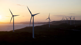 Albany Wind Farm. Near the town of the same name in Western Australia Royalty Free Stock Photo