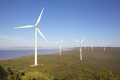 Albany Wind Farm. Near the town of the same name in Western Australia Royalty Free Stock Images
