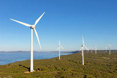 Albany Wind Farm. Near the town of the same name in Western Australia Royalty Free Stock Image