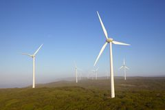 Albany Wind Farm. Near the town of the same name in Western Australia, on a misty morning Stock Image
