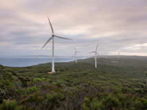 Albany wind farm, Western Australia. Albany wind farm at sunset, Western Australia Stock Photos