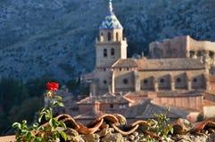 albarracin中世纪西班牙城镇 免版税图库摄影