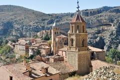 albarracin中世纪西班牙城镇 免版税库存图片