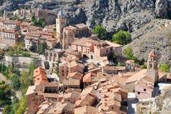 albarracin中世纪西班牙城镇 库存图片