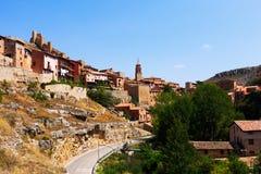 Albarracin全视图  免版税库存图片