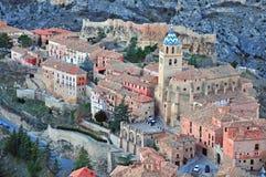 Albarracin历史镇 库存照片