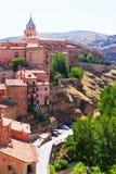 Albarracin夏天视图  免版税库存图片