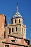 albarracin教会玛丽亚・圣诞老人・西班牙teruel 免版税图库摄影