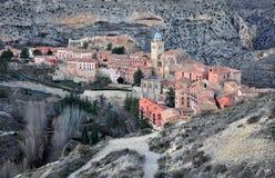 Albarracin村庄 免版税库存图片