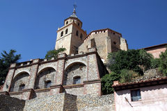 albarracin西班牙北部省西班牙teruel 库存图片