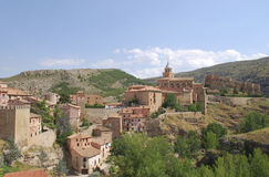 Albarracin. Albarracín is a medieval town of Spain, in the province of Teruel. The town is a national monument since 1961 and it is proposed by Unesco to be Stock Photos