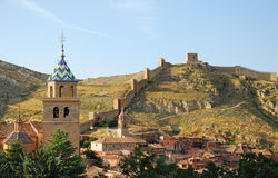Albarracin. Albarracín is a medieval town of Spain, in the province of Teruel. The town is a national monument since 1961 and it is proposed by Unesco to be Stock Image